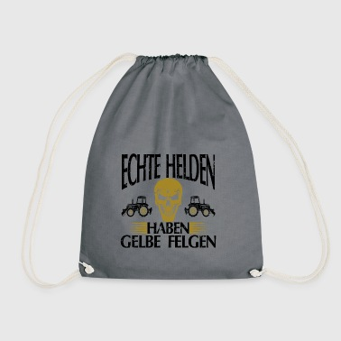 Real heroes yellow rims gift tshirt white - Drawstring Bag