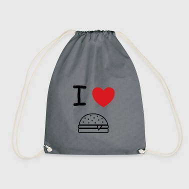 I love burger gift idea - Drawstring Bag