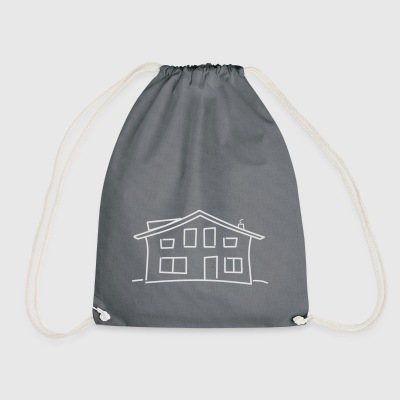 Logo Community house white - Drawstring Bag