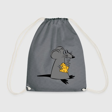 Rat with cheese - Drawstring Bag