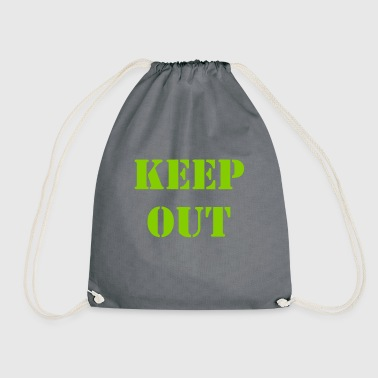 Keep out - Drawstring Bag