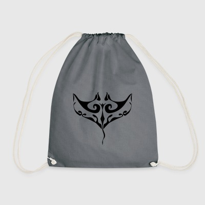 manta ray tatoo - Sac de sport léger