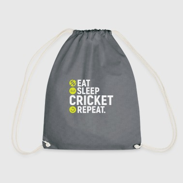 Eat, sleep, cricket, repeat - gift - Drawstring Bag