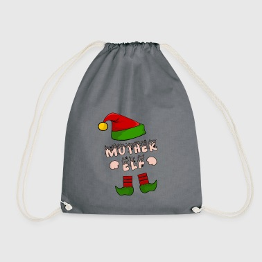 Mother Elf - Mom Elf - Christmas Gift - Drawstring Bag