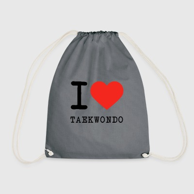 I love Taekwondo - Drawstring Bag