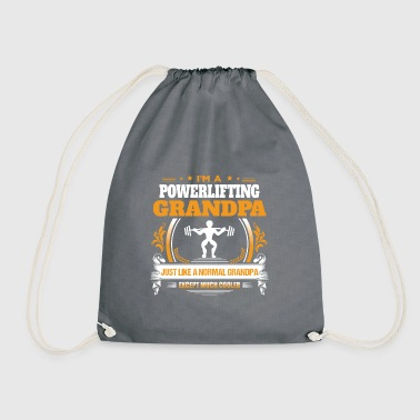 Powerlifting Grandpa Shirt Gift Idea - Drawstring Bag