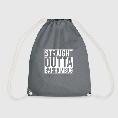 Straight Outta Bah Humbug Anti Xmas Hass Grouch - Turnbeutel