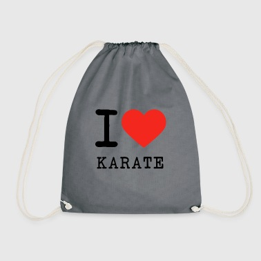 I love karate - Drawstring Bag