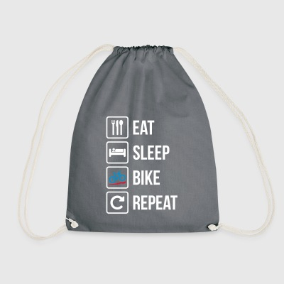 Eat Sleep Bike Repeat - Drawstring Bag