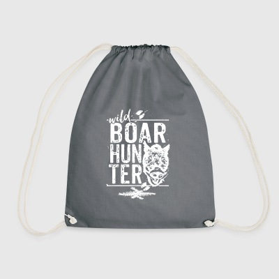 Wild Boar Hunter - Drawstring Bag