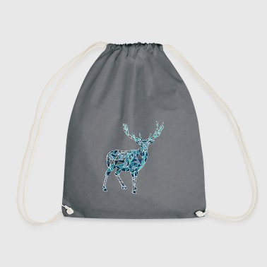 Blue deer - Drawstring Bag