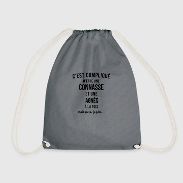 Connasse and Agnes both - Drawstring Bag