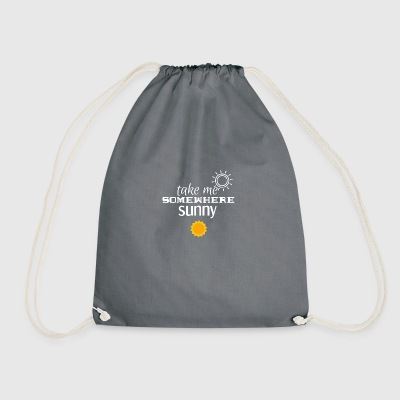 Just take me somewhere - Drawstring Bag
