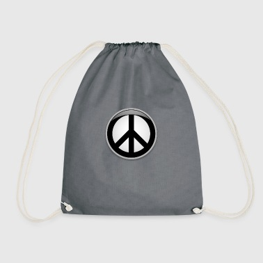 Peace button large - Drawstring Bag