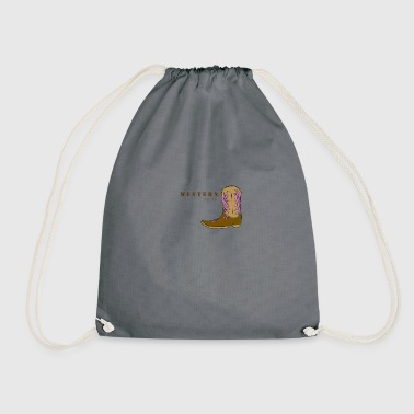 Western rider color - Drawstring Bag