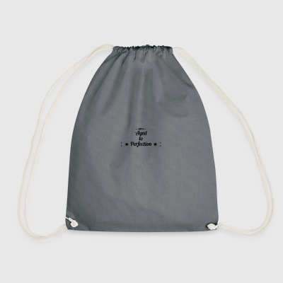 50th birthday: Fifty - Aged to Perfection! - Drawstring Bag