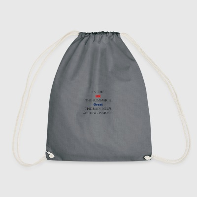 UK Weather Joke - Drawstring Bag