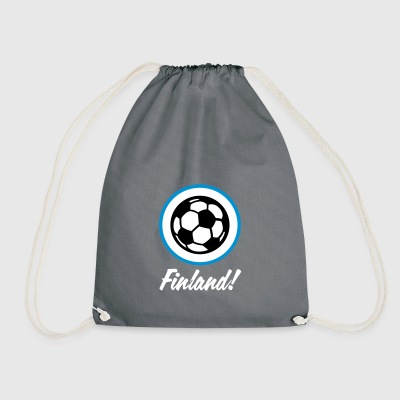 Finland Football Emblem - Drawstring Bag