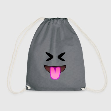 Showing tongue and nasty laugh - Drawstring Bag