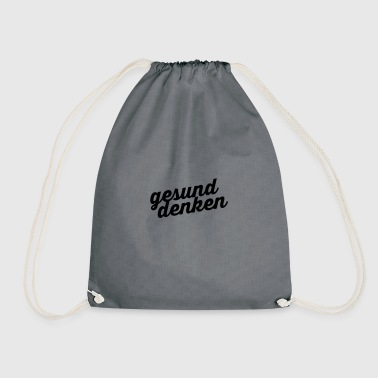 Healthy thinking - Drawstring Bag