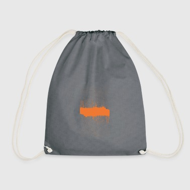 orange brush sketch - Drawstring Bag