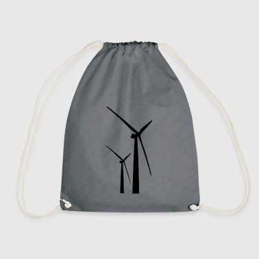 wind energy - Drawstring Bag