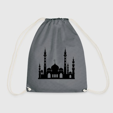 Mosque / Mosque in Arabia Crescent & Star - Drawstring Bag