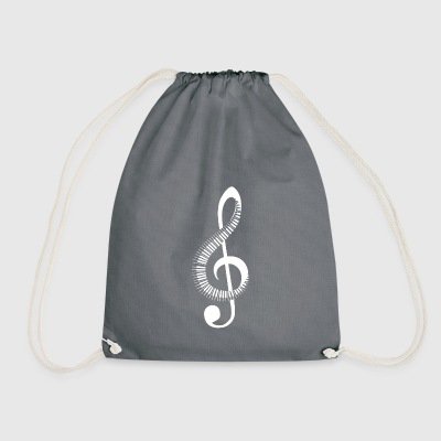 Clef piano - Drawstring Bag