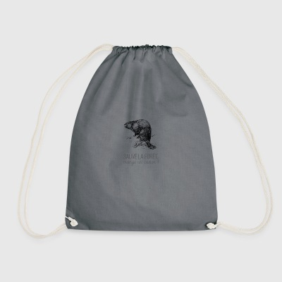 Saves the forest, eat a beaver! - Drawstring Bag