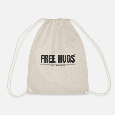Accendere Free Hugs * Only for Hot Boys Maglietta Free Hugs - Sacca sportiva