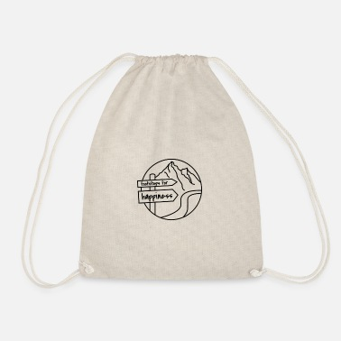 Footsteps for Happiness - Drawstring Bag