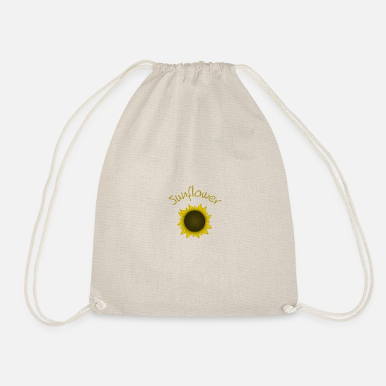 Gold Bags & Backpacks - Sunflower - Drawstring Bag nature