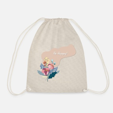 Happy Be Happy - Be Happy - Drawstring Bag