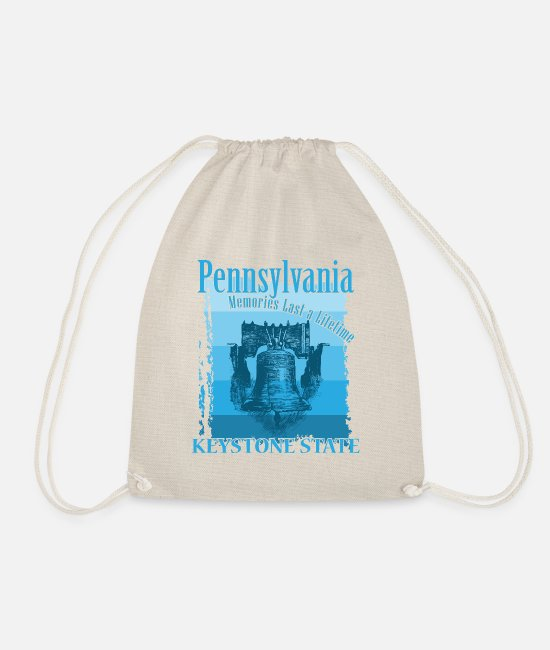 Homesickness Bags & Backpacks - Pennsylvania emigrating America short trip gift - Drawstring Bag nature