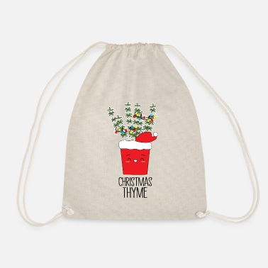 Protection Christmas Thyme Herb Pun - Drawstring Bag
