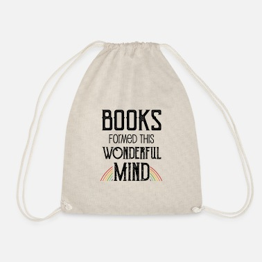 Mind-reader 0137 books formed this wonderful mind - Drawstring Bag