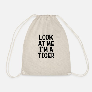 Sour Look at me, I'm a tiger Funny Hallowee - Drawstring Bag