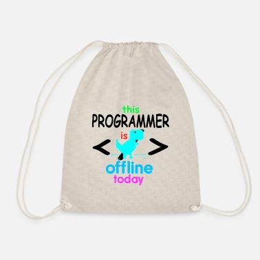 Programmer Programmer coder software developer computer - Drawstring Bag