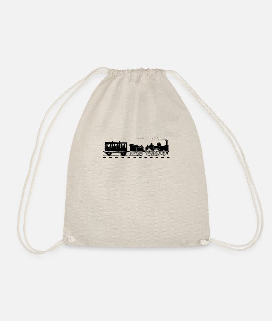 Training Bags & Backpacks - Train Lover Gifts Vintage Railroad Train - Drawstring Bag nature