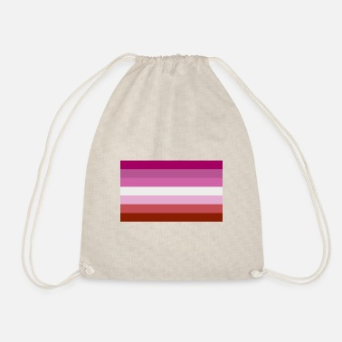 Lesbian flag without lips - Drawstring Bag
