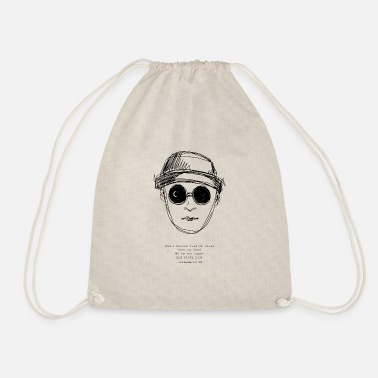 Abstraction Homme galaxie yeux yeux lune illustration - Sac à dos cordon