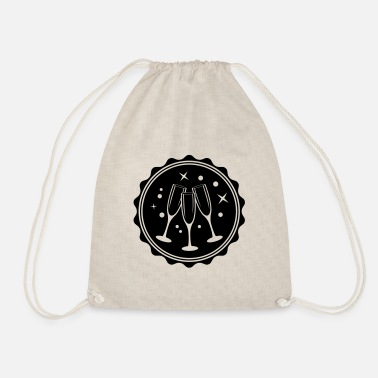 Champagne Glass champagne glass icon - Drawstring Bag