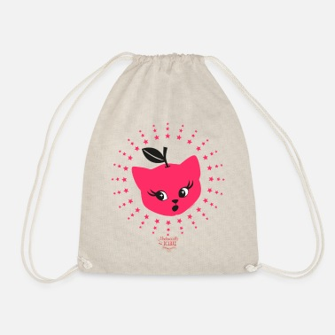 Mademoiselle Deluxe Apple Cat - Drawstring Bag