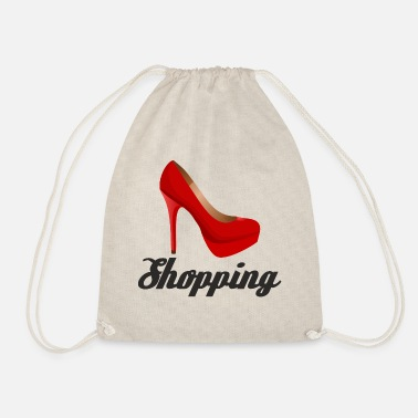 Queen Of Shopping Shopping is my love. Queen of Shopping - Drawstring Bag