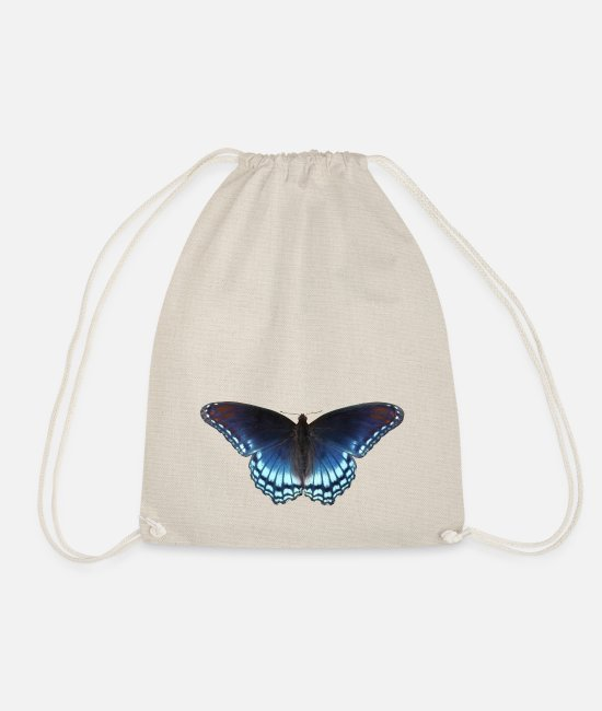 Nature Bags & Backpacks - Butterfly in blue with great gradient - Drawstring Bag nature