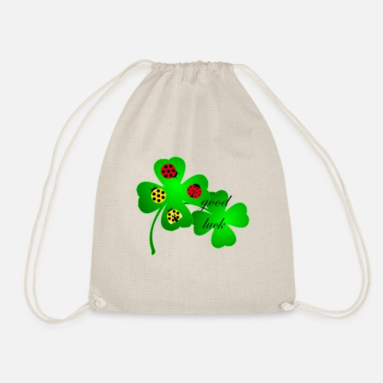 Luck Bags & Backpacks - good luck - Drawstring Bag nature