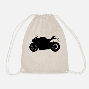 sports bike silhouette - Drawstring Bag