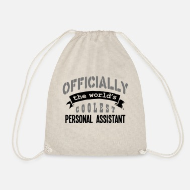 Official Person personal assistant officially the worlds - Drawstring Bag