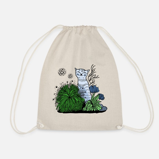 Collection Bags & Backpacks - Cat in the grass - Drawstring Bag nature