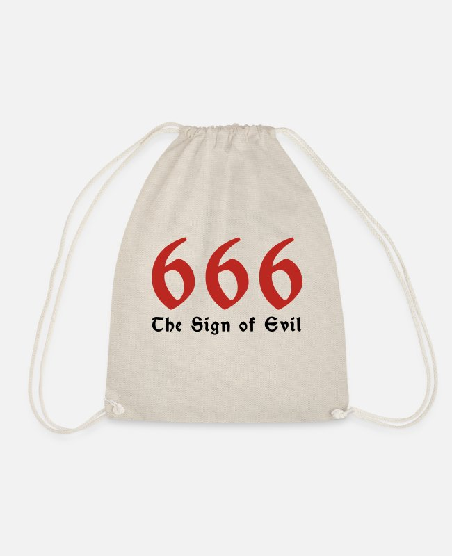 Devil Bags & Backpacks - 666 - the number of the beast - Drawstring Bag nature
